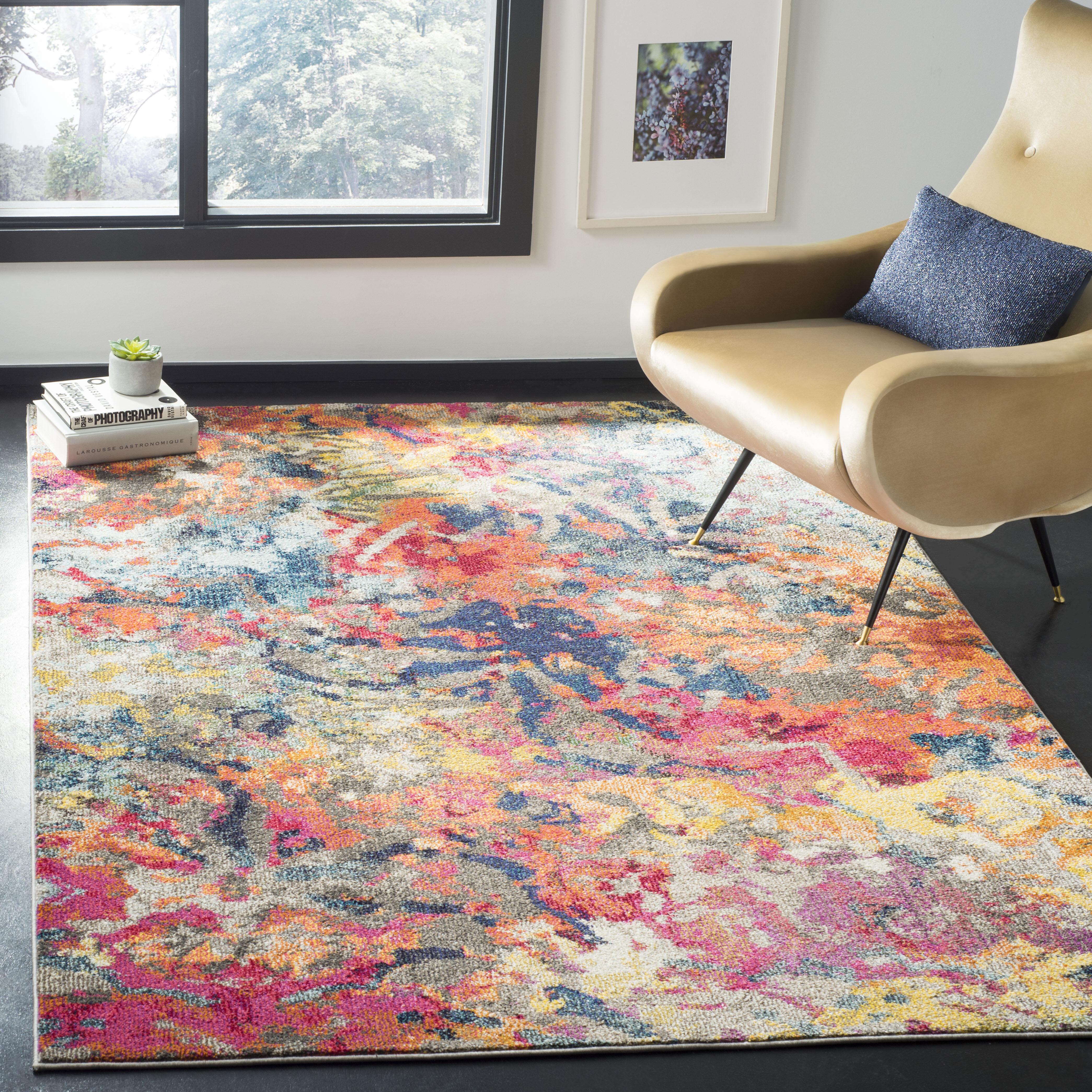 Wrought Studio Muhan Abstract Orange Area Rug Reviews Wayfair