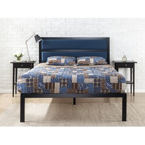 Royse Metal Upholstered Platform Bed by Varick Gallery