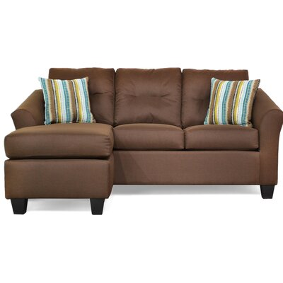 Desales Reversible Sectional Upholstery Color: Jitterbug Cocoa by Andover Mills