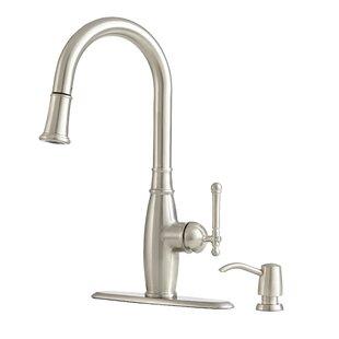 """Giagni Vivace 18"""" Pull-Down Kitchen Faucet & Soap Dispenser"""