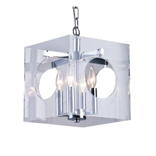 Constancia 4-Light Square/Rectangle Pendant by House of Hampton