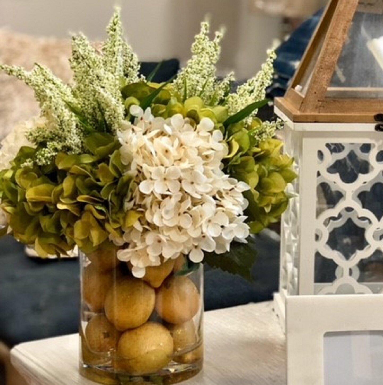 Darby Home Co Hydrangeas Flower Centerpiece in Decorative Vase \u0026 Reviews   Wayfair & Darby Home Co Hydrangeas Flower Centerpiece in Decorative Vase ...