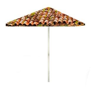 Italian Villa 6' Rectangular Market Umbrella by Best of Times