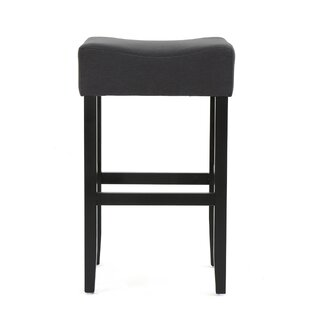 Chamness Wood Bar Stool (Set of 2) Latitude Run