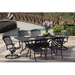 Thompson Traditional 7 Piece Dining Set With Cushions By Alcott Hill