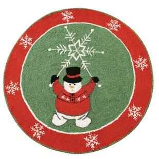 Winter Wonderland Christmas Green Area Rug