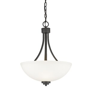 Kepner 3-Light Bowl Pendant by Winston Porter