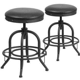 Shuai Adjustable Height Swivel Bar Stool (Set of 2) by 17 Stories