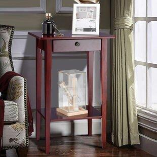 Red Barrel Studio Deems Tall Wood Drawer Shelf Telephone Table