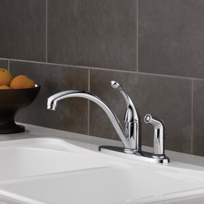 Delta Collins Single Handle Kitchen Faucet with Spray