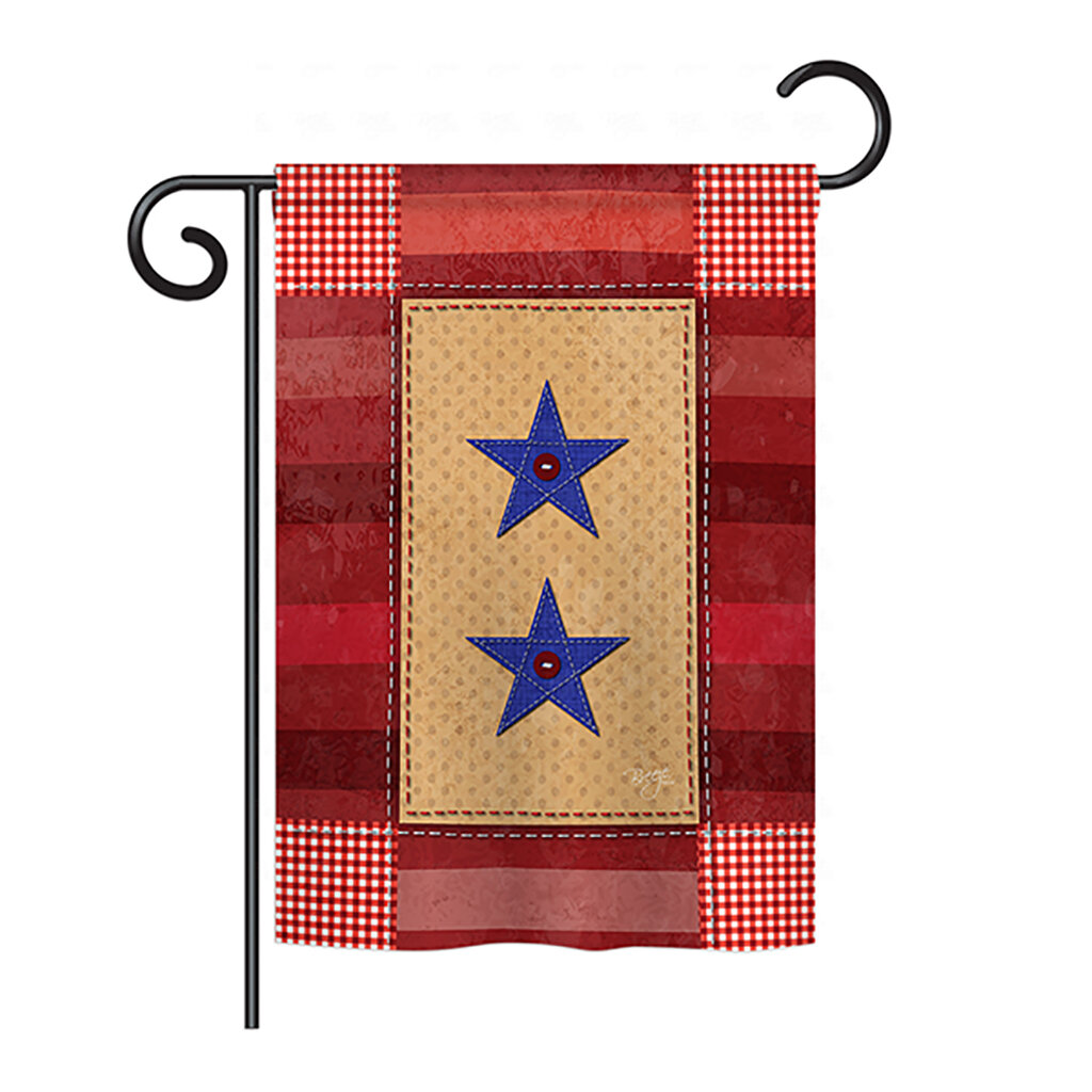 Breeze Decor Two Star Service 2 Sided Polyester House Flag Wayfair