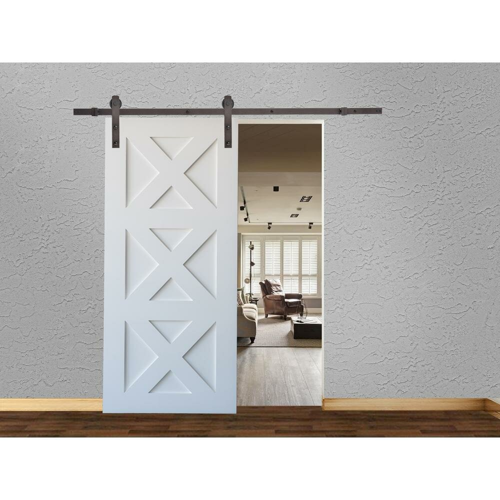 Calhome Bent Strap Sliding Standard Single Track Barn Door Hardware Kit Reviews Wayfair