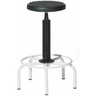 Twyman Height Adjustable Lab Stool with Plastic Seat