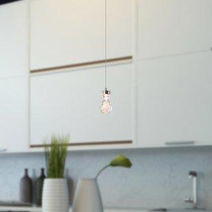 Atoka 1-Light LED Teardrop Pendant by Orren Ellis