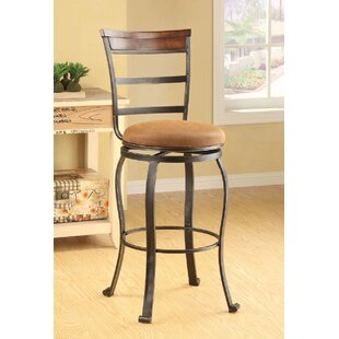 Trotter 29 Swivel Bar Stool (Set of 2) Fleur De Lis Living