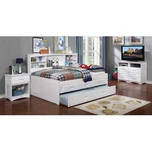 Comeaux Bed with Trundle Drawers and Bookcase by Harriet Bee