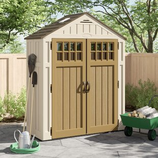 Everett Outdoor 6 Ft. 3 In. W X 2 Ft. 9 In. D Plastic Storage Shed By Suncast