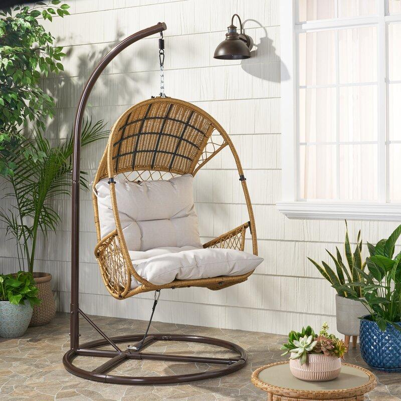 Bayou Breeze Berkshire Swing Chair With Stand Reviews Wayfair