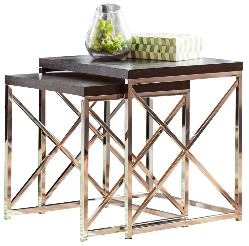 Nesting Tables mercury row rigel 2 piece nesting tables & reviews | wayfair
