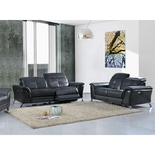 Tom Reclining Electric 2 Piece Leather Living Room Set by Brayden Studio