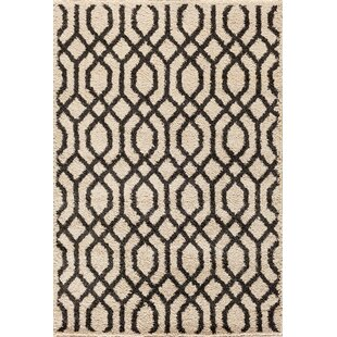 Best Review Hamilton Pearl/Black Area Rug By Threadbind
