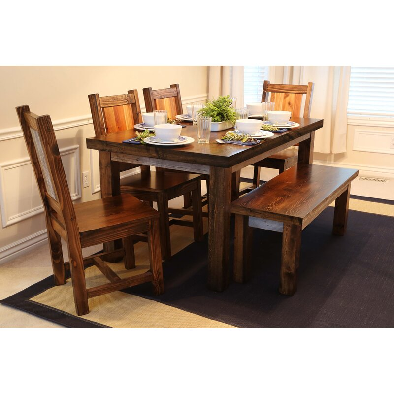Union Rustic Gaye City Loft 6 Piece Solid Wood Dining Set Wayfair