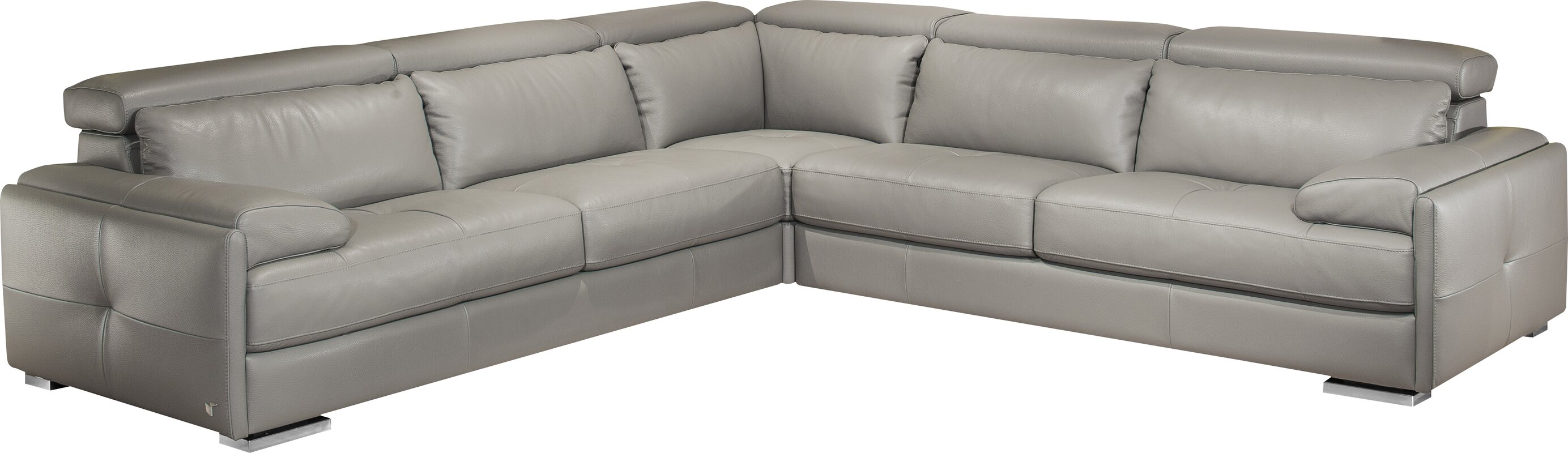 J&M Furniture Gary Leather Sectional & Reviews