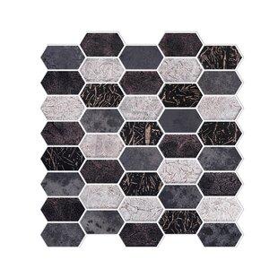 Distinto In Mix 11 61 X 12 Mosaic Tile Black Silver