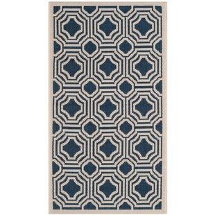 Octavius Navy/Beige Indoor/Outdoor Area Rug