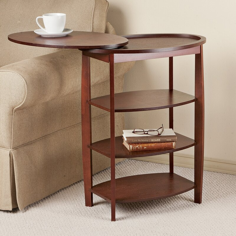 Wooden Swivel End Table
