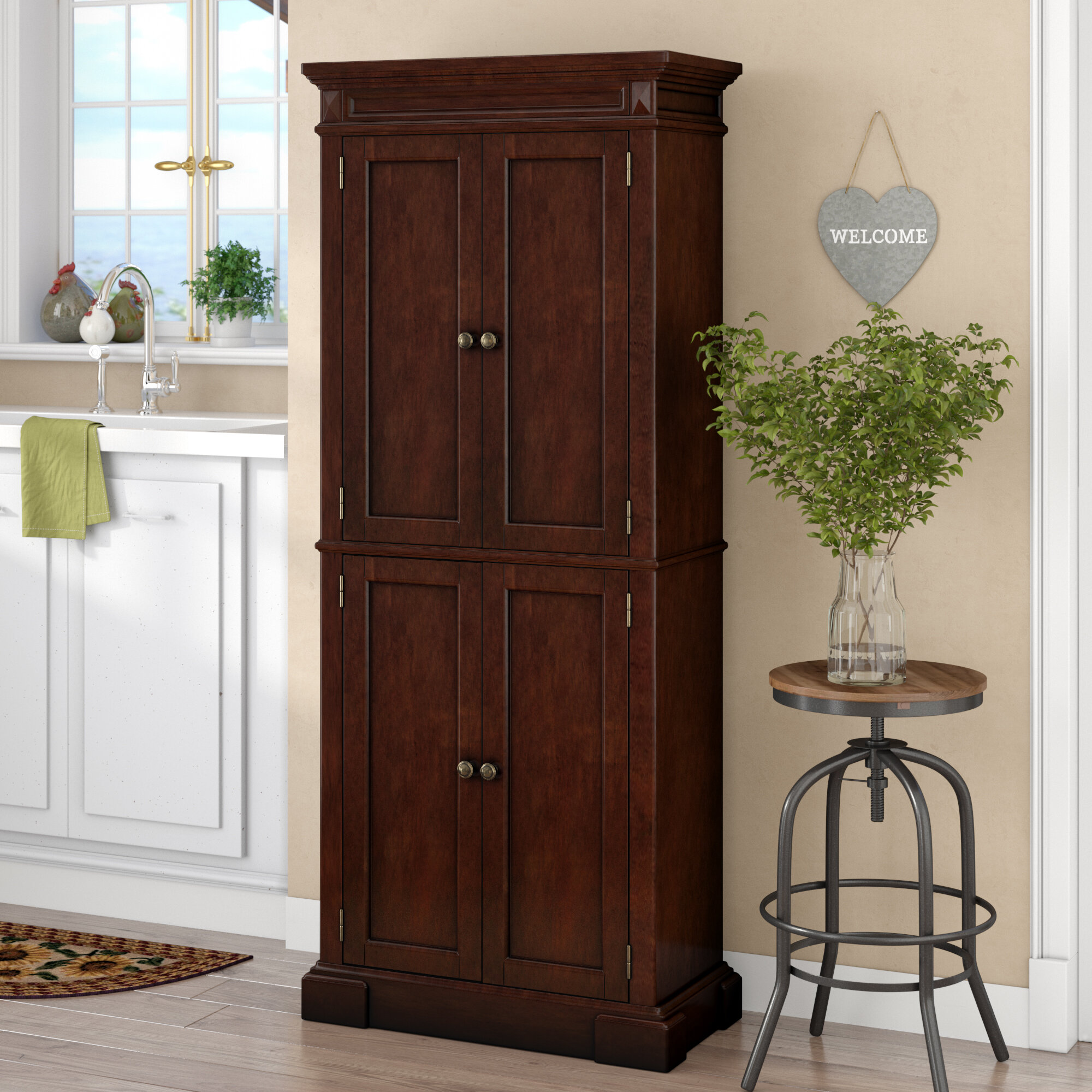 August Grove Collette 72 Kitchen Pantry Reviews Wayfair