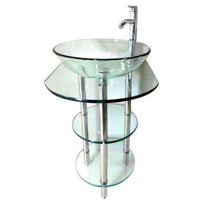 """Kokols 24 Bathroom Vanity Set kokols 24"""" single pedestal bathroom vanity set & reviews   wayfair"""