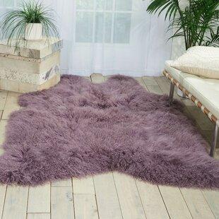Christine Sheepskin Lavender Area Rug