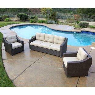 Latitude Run Leib 3 Piece Sofa Set with Cushions