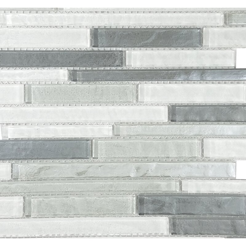 Abolos Geo Random Sized Glass Mosaic Tile In Blue Gray Reviews