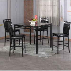 Eugene 5 Piece Counter Height Dining Set by Latitude Run