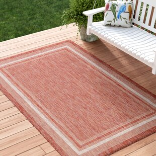 Quicksall Rust Red Indoor/Outdoor Area Rug