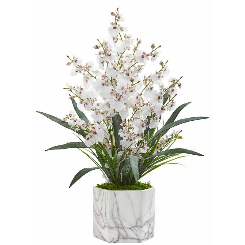 floral home decor orchid floral design wayfair.htm mercer41 artificial dancing lady orchid floral arrangement in vase  mercer41 artificial dancing lady orchid