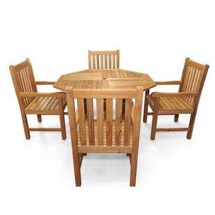 Rosecliff Heights Edgartown Teak 5 Piece Dining Set