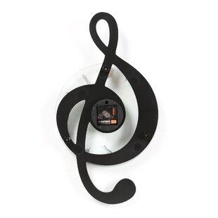 Burdette Musical Clef Wall Clock by Orren Ellis
