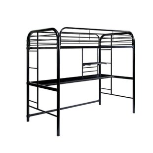 Watford Metal Twin Loft Bed by Harriet Bee
