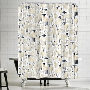 Elena Oneill Sheep Single Shower Curtain by East Urban Home Looking for