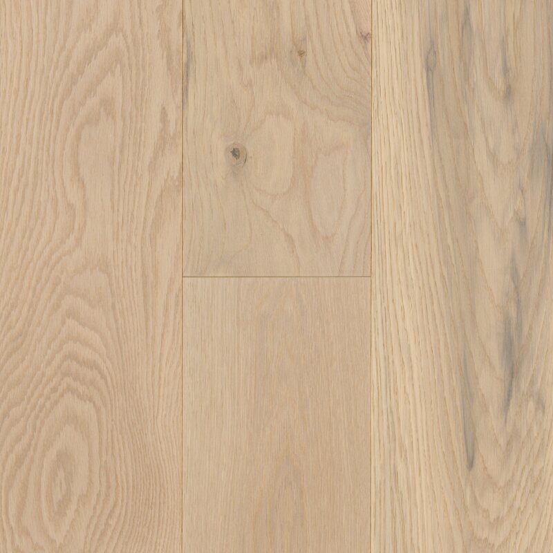 "Coastal Allure 7"" Engineered Oak Hardwood Flooring in Beachwood White"