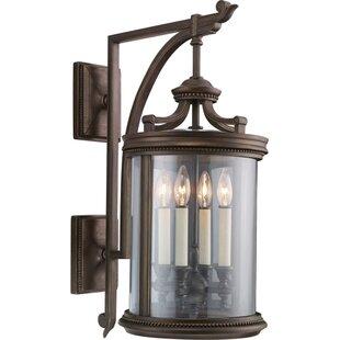 Fine Art Lamps Louvre 4-Light Outdoor Wall Lantern