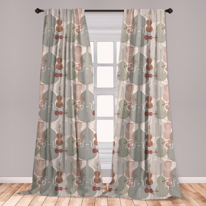 East Urban Home Music Room Darkening Rod Pocket Curtain Panels Wayfair