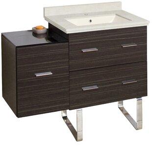 Phoebe Handles Drilling Floor Mount 38 Single Right Bathroom Vanity Set by Orren Ellis