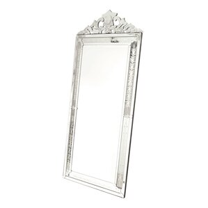 Vertical Silver Glass Venetian Mirror