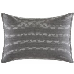 Burnished Quartz Stitched Cotton Lumbar Pillow