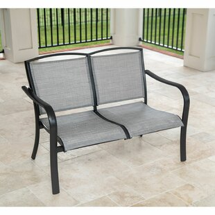 Beam All-Weather Commercial-Grade Aluminum Loveseat with Sunbrella Sling Fabric by Charlton Home