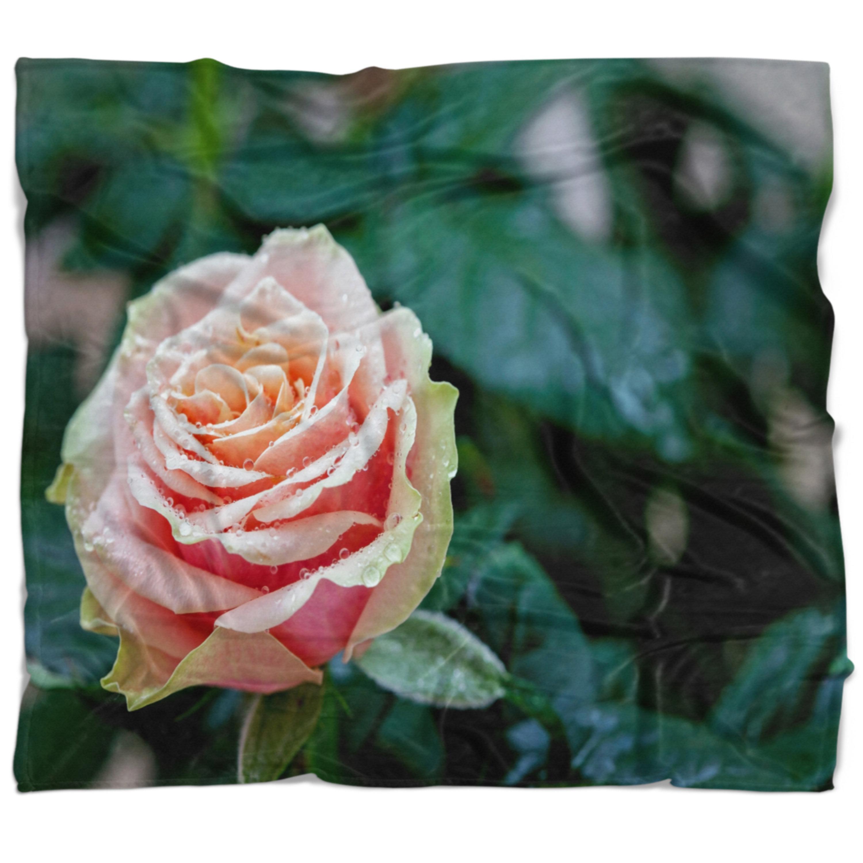 East Urban Home Floral Rose Flower Close Up Blanket Wayfair